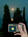 lcd月亮 库存照片