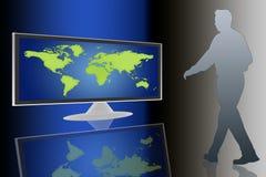 lcd电视世界 免版税图库摄影