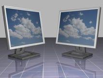 lcd监控程序 库存图片