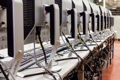 LCD监测生产 免版税库存图片
