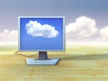 Lcd-Überwachungsgerät Lizenzfreies Stockfoto