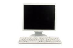 Lcd-Überwachungsgerät und Tastatur stockbilder