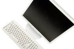Lcd-Überwachungsgerät und Tastatur Lizenzfreies Stockbild