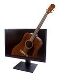 LCD на белой предпосылке Стоковое фото RF