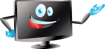 Lcd привел представлять монитора ТВ Стоковая Фотография RF
