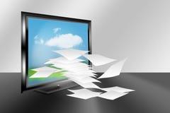 黑色计算机框架lcd监控程序 库存照片