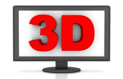 LCD 3D Royalty Free Stock Photos