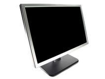 计算机lcd宽显示器屏幕 图库摄影