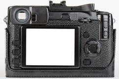 Lcd-Ansicht der Vertiefung verwendet, Retro- Art-Digitalkamera Stockbild