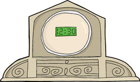 LCD Antique Clock Stock Photography