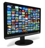Lcd-Bildschirmanzeige mit Abbildunggalerie lizenzfreie abbildung