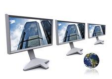 Lcd-Bildschirme stockfoto