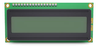 LCD Character Module Display. Isolateed render on white background Stock Image