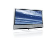 Lcd clouds. Lcd tv with clouds image Stock Photos