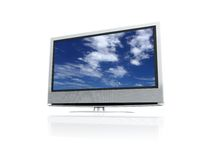 Lcd clouds. Lcd tv with clouds image Stock Photo