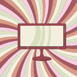 LCD  on colored paper. Concepts of LCD and TV Royalty Free Stock Photos
