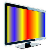 LCD with colorful screen Royalty Free Stock Photos