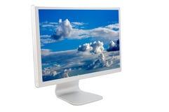 Lcd-Computerüberwachungsgerät lizenzfreie stockfotografie