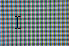 Lcd-Computerüberwachungsgerät mit Cursor stockbilder