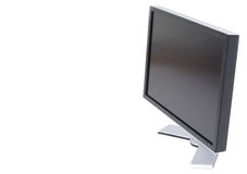 Lcd computer monitor. The Flat panel lcd computer monitor, right view Stock Photography