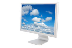 LCD computer monitor. Over a white background Stock Photography