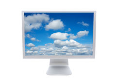 LCD computer monitor. Over a white background Stock Photo