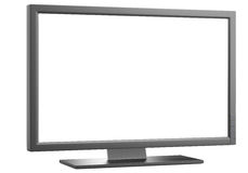 LCD computer monitor. With blank screen isolated on white background. 3d illustration Stock Photography