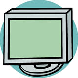 Lcd computer monitor vector illustration Royalty Free Stock Photography