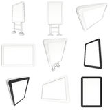 Lcd computer screen and floor stand set. Royalty Free Stock Image