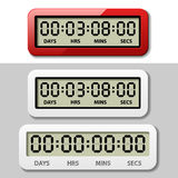 LCD counter - countdown timer Royalty Free Stock Photography