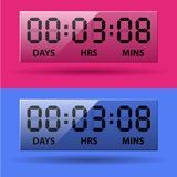 LCD counter - countdown timer Stock Image