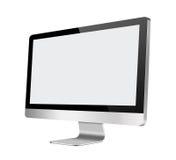Lcd-datorbildskärm med den tomma skärmen på vit Fotografering för Bildbyråer