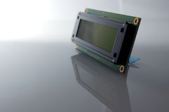 LCD display. LCD character display - electronic part Royalty Free Stock Photography