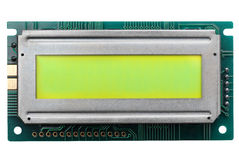 LCD display. Glowing LCD display for you own text Stock Images