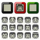 LCD display pixel faces Stock Photos
