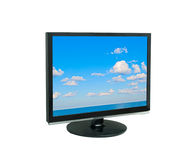 LCD display showing cloudy sky Royalty Free Stock Photography