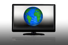 LCD display showing the Earth royalty free stock images