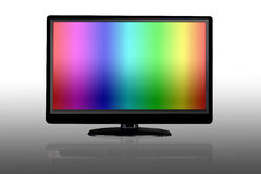 LCD display showing rainbow color Stock Photos