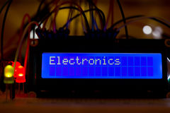 Lcd display. Small lcd display with text stock image