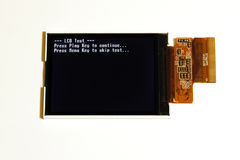 LCD display test. Electronic LCD display with TEST messages on screen Stock Photo