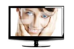 Lcd Fernsehapparat Stockbild