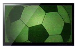 Lcd-Fernsehbildschirm, der an einer Wand hängt Lizenzfreies Stockfoto