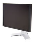 Lcd flat display. The Flat panel lcd computer monitor, right view Stock Image