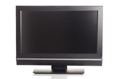 LCD flat screen. LCD high definition flat screen TV against white background Stock Images