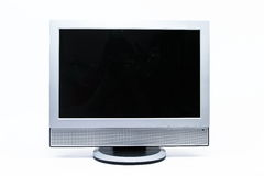LCD flatscreen TV isolated on white Stock Image