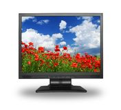 LCD with gorgeous landscape Royalty Free Stock Photos