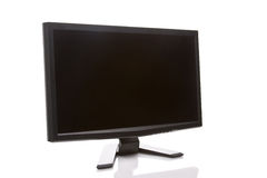 LCD HD Computer Monitor. LCD computer monitor with blank screen isolated on a white background Royalty Free Stock Photography