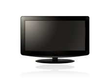 LCD HD TV (black). LCD / Plasma TV on a white background Stock Photo