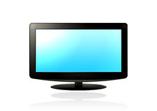 LCD HD TV (blue). LCD / Plasma TV on a white background Royalty Free Stock Photography
