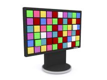 LCD illustration Stock Photography